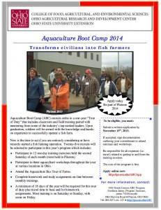 Ohio Aquaculture Boot Camp 2014